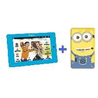 Accessoire De Jeu Multimedia Enfant LEXIBOOK - Tablet Master - 7 pouces - Version Française + Housse silicone Minions