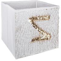 Accessoire De Meuble Bac de rangement Sequin - Or et blanc