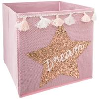 Accessoire De Meuble Bac de rangement Sequin et Pompons Dream - Rose