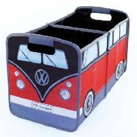 Accessoire De Meuble Boite De Rangement Pliable Vw T1 Bus - Rouge Noir