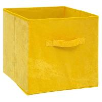 Accessoire De Meuble Boîte de rangement 31x31 cm - Velours - Jaune