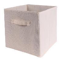 Accessoire De Meuble CASAME Cube pliable en intisse - 28 x 28 x 5 cm - Ecru Lin - Cartamundi