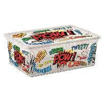 Accessoire De Meuble C BOX STYLE Boite de rangement pour enfant Comics - 11 L - 37 x 26 x 14 cm - Blanc et multicolore