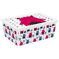 Accessoire De Meuble C BOX STYLE Boite de rangement pour enfant Hipster - 11 L - 37 x 26 x 14 cm - Rose