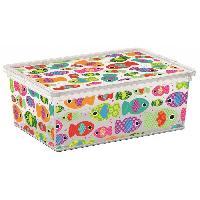 Accessoire De Meuble C BOX STYLE Boite de rangement pour enfant Tender Zoo - 11 L - 37 x 26 x 14 cm - Blanc et multicolore