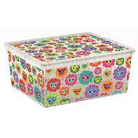 Accessoire De Meuble C BOX STYLE Boite de rangement pour enfant Tender Zoo - 18 L - 40 x 34 x 17 cm - Blanc et multicolore