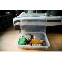Accessoire De Meuble EDA PLASTIQUE Coffre de rangement dessous de lit Gigabox 60 L - Naturel - 80 x 60 x 17 cm