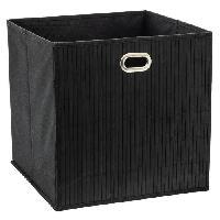 Accessoire De Meuble Panier de rangement 31x31 cm - Bambou Noir
