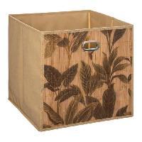 Accessoire De Meuble Panier de rangement 31x31 cm - Bambou print