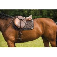 Accessoire De Selle EQUI-THEME Chabraque Diamond pour cheval - Chocolat