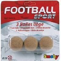 Accessoire Et Piece Detachee Baby-foot SMOBY 3 Balles de Baby Foot en Liege