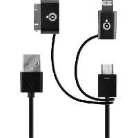 Accessoire Gps BIGBEN CONNECTED Câble De Charge Et Synchronisation USB  A / USB 2.5 - Noir