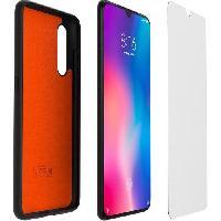Accessoire Gps XIAOMI Pack coque TPU et verre trempé pour Xiaomi MI 9 Noir