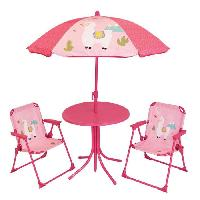 Accessoire Plein Air - Piece Detachee Plein Air FUN HOUSE 713141 LOLA LAMA Salon de jardin avec une table . 2 chaises pliables et un parasol pour enfant
