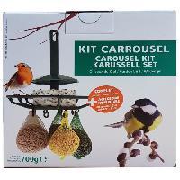 Accessoire Pour Repas AIME Kit carrousel mangeoire et nourriture - 17.5 x 17.5 x 17.5 cm - Pour oiseaux du ciel