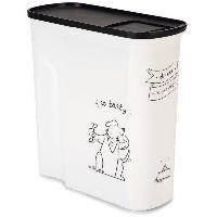 Accessoire Pour Repas CURVER Conteneur de nourriture Le Diner est servi - 2.5 kg - 6 L - Blanc et noir - Pour chien