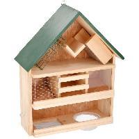 Accessoire Pour Repas Mangeoire en bois - 9 en 1 - 44 x 39 x 13 cm - Pour oiseaux Aucune