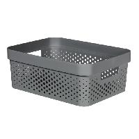 Accessoire Salle De Bain CURVER Bac Infinity 11L Dots - Plastique recyclé - Gris
