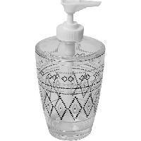 Accessoire Salle De Bain Distributeur a savon imprime - Plastique - H16.5 x O7.5 cm - Aucune