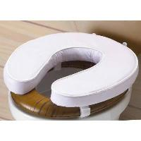 Accessoire Salle De Bain Rehausseur WC VITAEASY - Hauteur 10 cm - Blanc - Realise en mousse. recouvert de PVC