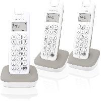 Accessoire Telephone ALCATEL Téléphone fixe D185 VOICE TRIO Blanc/Gris