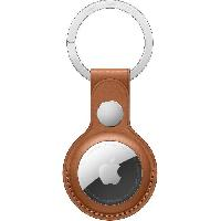 Accessoire Telephone APPLE Porte-clés en cuir AirTag Havane