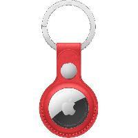 Accessoire Telephone APPLE Porte-clés en cuir AirTag (PRODUCT)RED