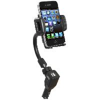 Accessoire Telephone AUTO-T Support actif orientable smartphones/GPS+USB