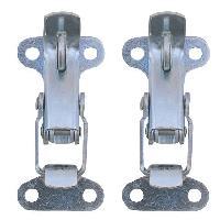 Accessoire exterieur 2 Attaches capot Griffe acier ADNAuto