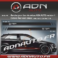 Accessoire exterieur 2 Stickers pour bas de caisse ADNAuto - Noir MatBlanc - ADNLifestyle
