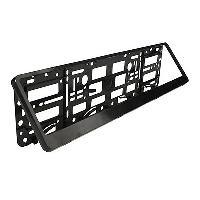 Accessoire exterieur 2x Supports de Plaque - Euro Clip - Noir ADNAuto