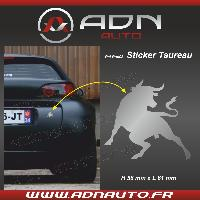 Accessoire exterieur Adhesif Sticker Argent - Taureau Corrida - H84mm x L90mm ADNAuto