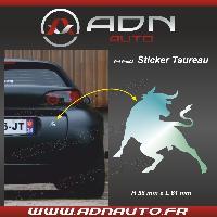 Accessoire exterieur Adhesif Sticker Chrome - Taureau Corrida - H84mm x L90mm ADNAuto