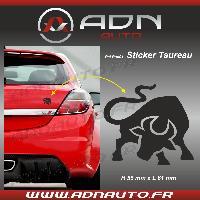 Accessoire exterieur Adhesif Sticker Noir - Taureau Stylise - H80mm x L90mm ADNAuto