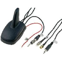 Accessoire exterieur Antenne Aileron de requin AM DVB-T FM GPS GSM noir 12VDC RG174 ADNAuto