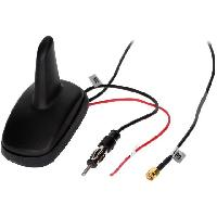 Accessoire exterieur Antenne Aileron de requin AM FM GPS DIN SMA-A 12VDC RG174