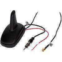 Accessoire exterieur Antenne Aileron de requin AM FM GPS DIN SMA-A 12VDC RG174 ADNAuto