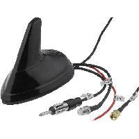 Accessoire exterieur Antenne Aileron de requin AM FM GPS GSM DIN FME-A SMA-A noir 12VDC 3dBi ADNAuto