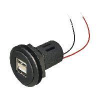 Accessoire interieur Prise USB F double - 2x 5V2.5A - Noir