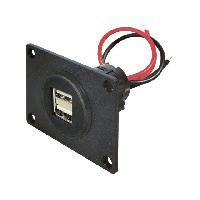 Accessoire interieur Prise USB F double - 2x5V2.5A - Noir
