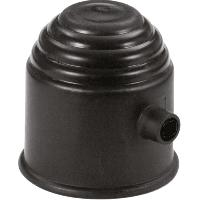 Accessoires Attelage Cache rotule noir avec serrure - ADNAuto