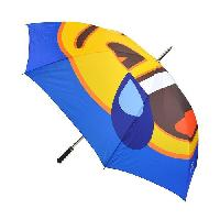 Accessoires Bagage EMOJI Parapluie Long Rieur - 152 cm - Bleu et Jaune