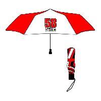 Accessoires Bagage GP MOTORS Parapluie pliable Marco Simencheli 58 Sic - Rouge et Blanc