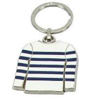 Accessoires Bagage Porte clef mariniere blanc raye bleu Altium Generique