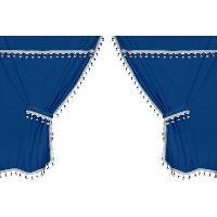 Accessoires Camion Kit rideaux centraux et lateraux - bleu