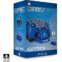 Accessoires Console - Jeux Chargeur et support Bleus pour PS4