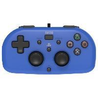 Accessoires Console - Jeux Mini Manette filaire bleue Hori pour PS4