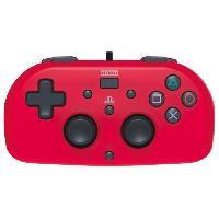 Accessoires Console - Jeux Mini Manette filaire rouge Hori pour PS4