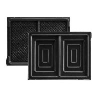 Accessoires Et Pieces - Petit Appareil De Cuisson LAGRANGE Accessoires 020422 Jeu de plaques a croque-monsieur Tarti' Gaufres