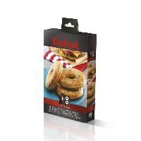Accessoires Et Pieces - Petit Appareil De Cuisson TEFAL Accessoires XA801612 Lot de 2 plaques bagels Snack Collection